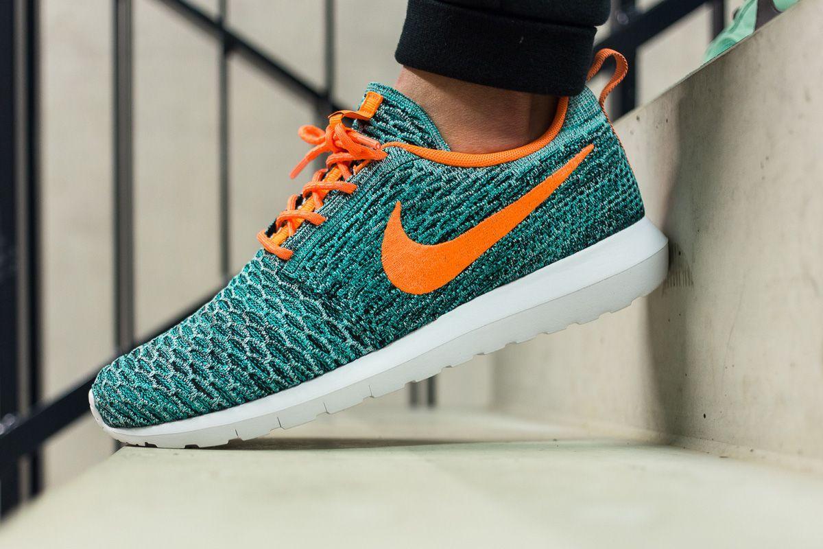 """0750f0572e1c Nike Flyknit Roshe Run NM """"Hyper Jade Total Orange"""""""