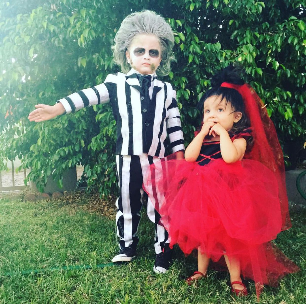 Beetlejuice Kids Costume Family Halloween Costumes Daughter Halloween Costumes Creepy Halloween Costumes
