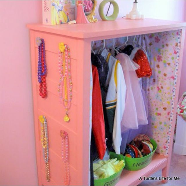 Dresser Drawer Into A Costume Closet