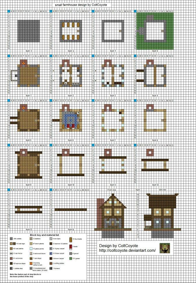 Blue prints   Minecraft houses, Minecraft plans, Minecraft ...