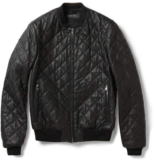 Gucci-Quilted-Leather-bomber-jacket | Gefunden | Pinterest ...