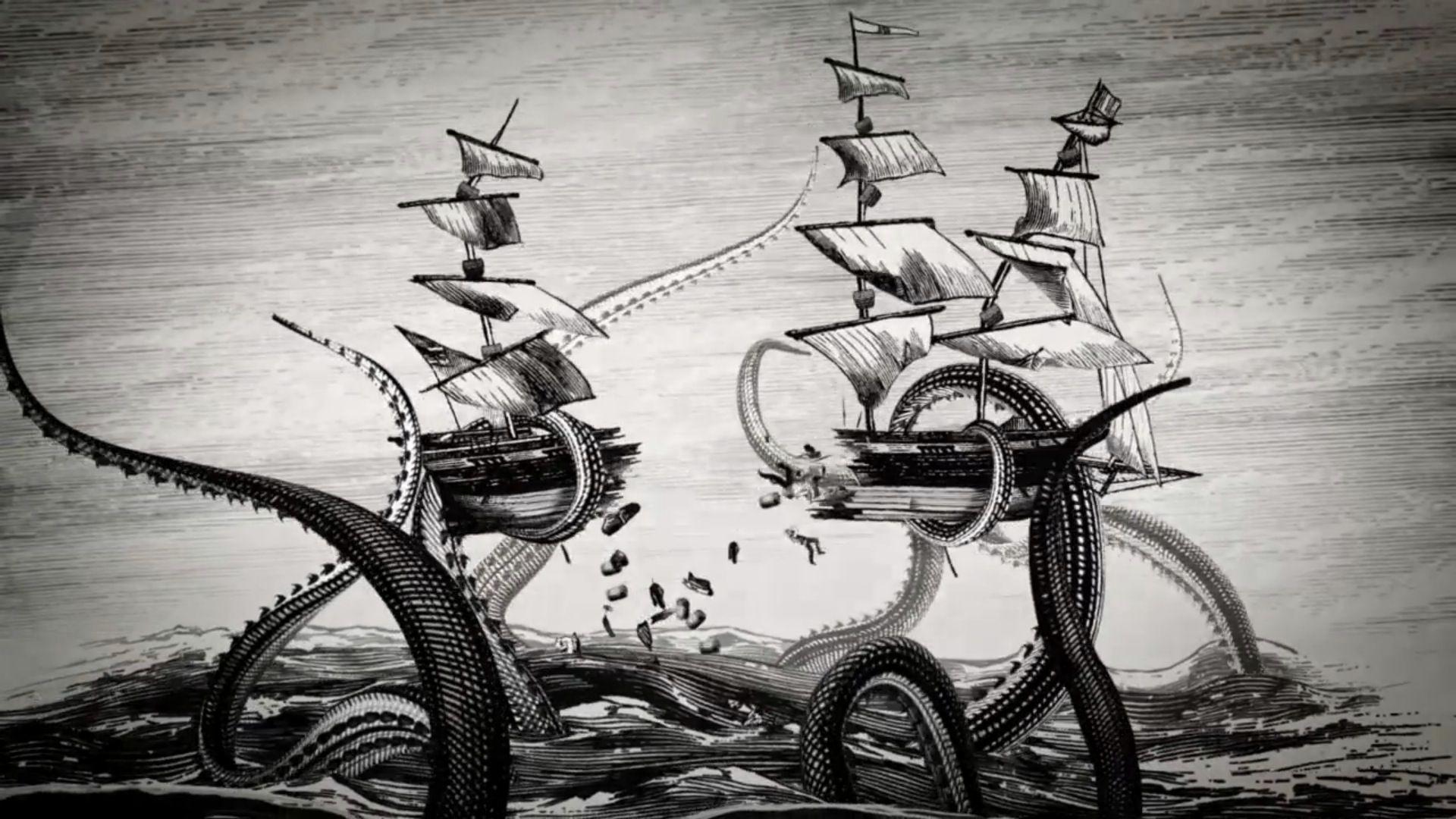 Kraken Wallpapers Wallpaper Cave Kraken Kraken Rum Pirate Art