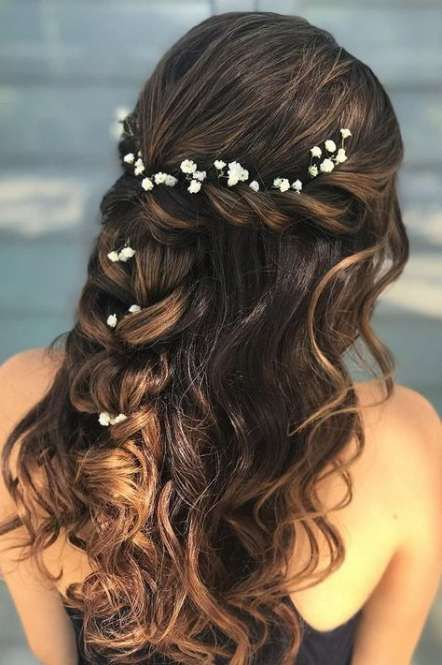 58 Super Ideas wedding hairstyles with flowers half up twists