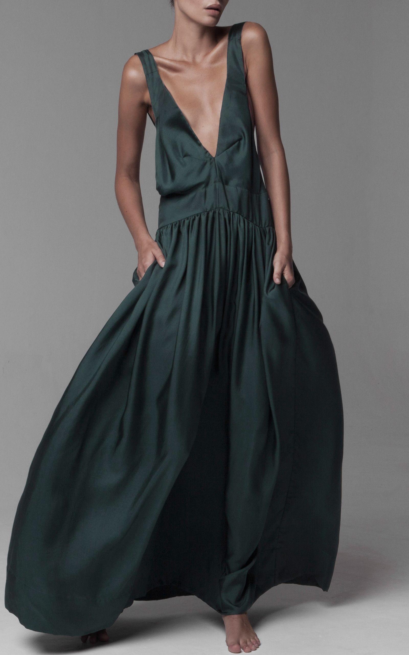 Kalita Zephyr Pinafore Dress Swimming Pool Silk Twill | dress ...
