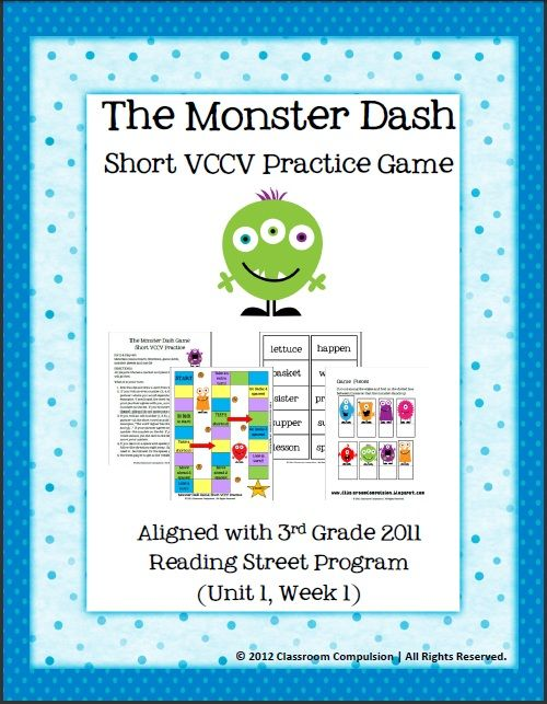Short VCCV Practice Game Reading Street Aligned School