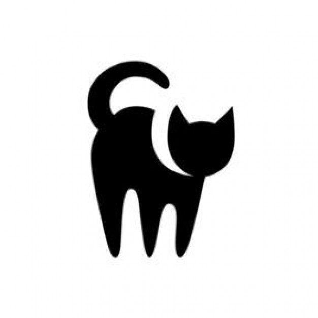Black Cat Symbol Icon Cat Logos Pinterest Black Cats