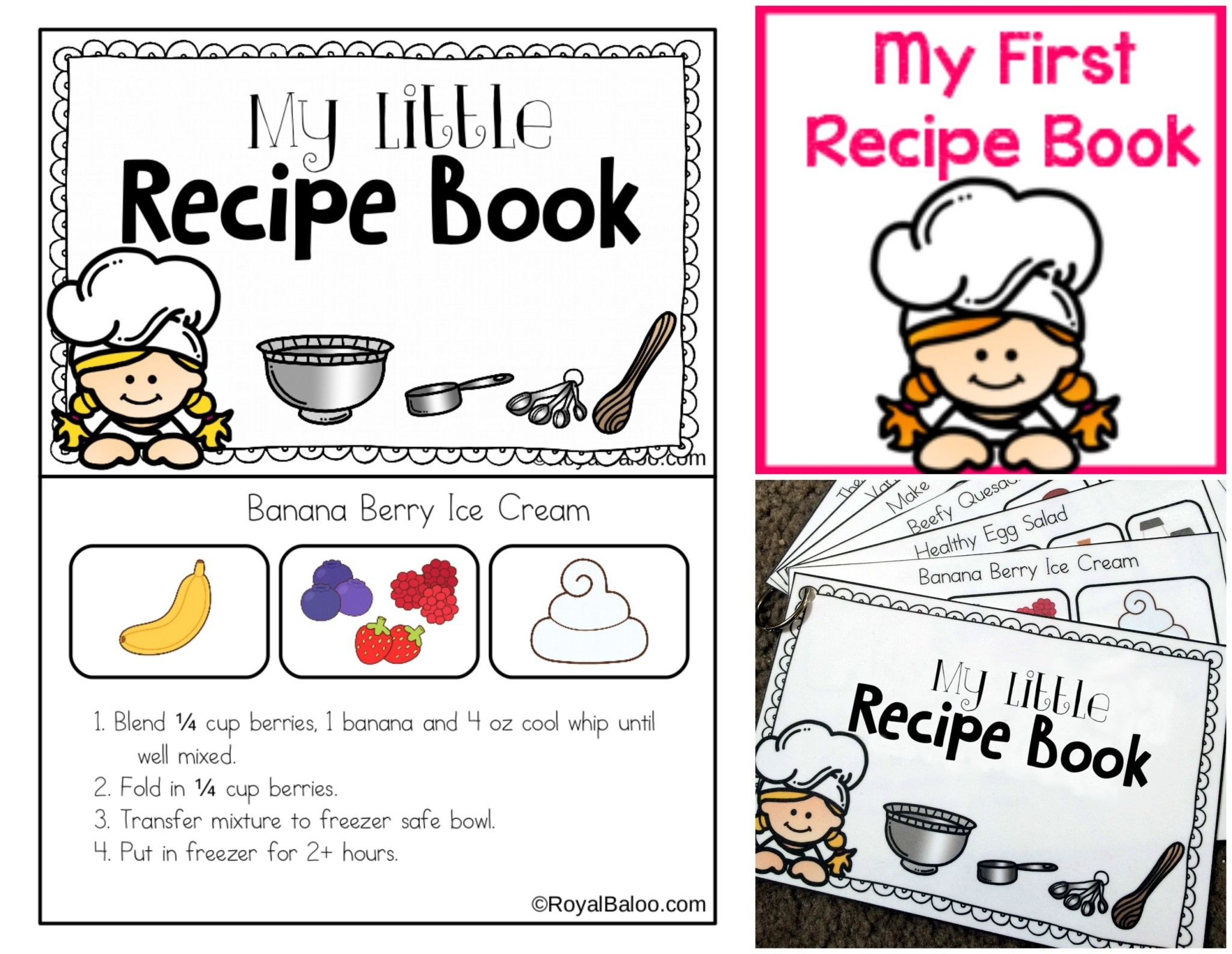 My First Recipe Book Printable