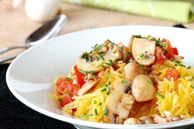 Spaghetti Squash and Mushrooms | Coupon Clipping Cook® #stuffedspaghettisquash
