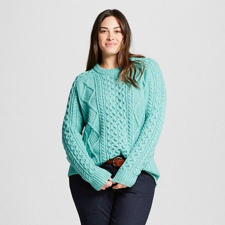 Womens Plus Size Cable Pullover Sweater Merona Target My