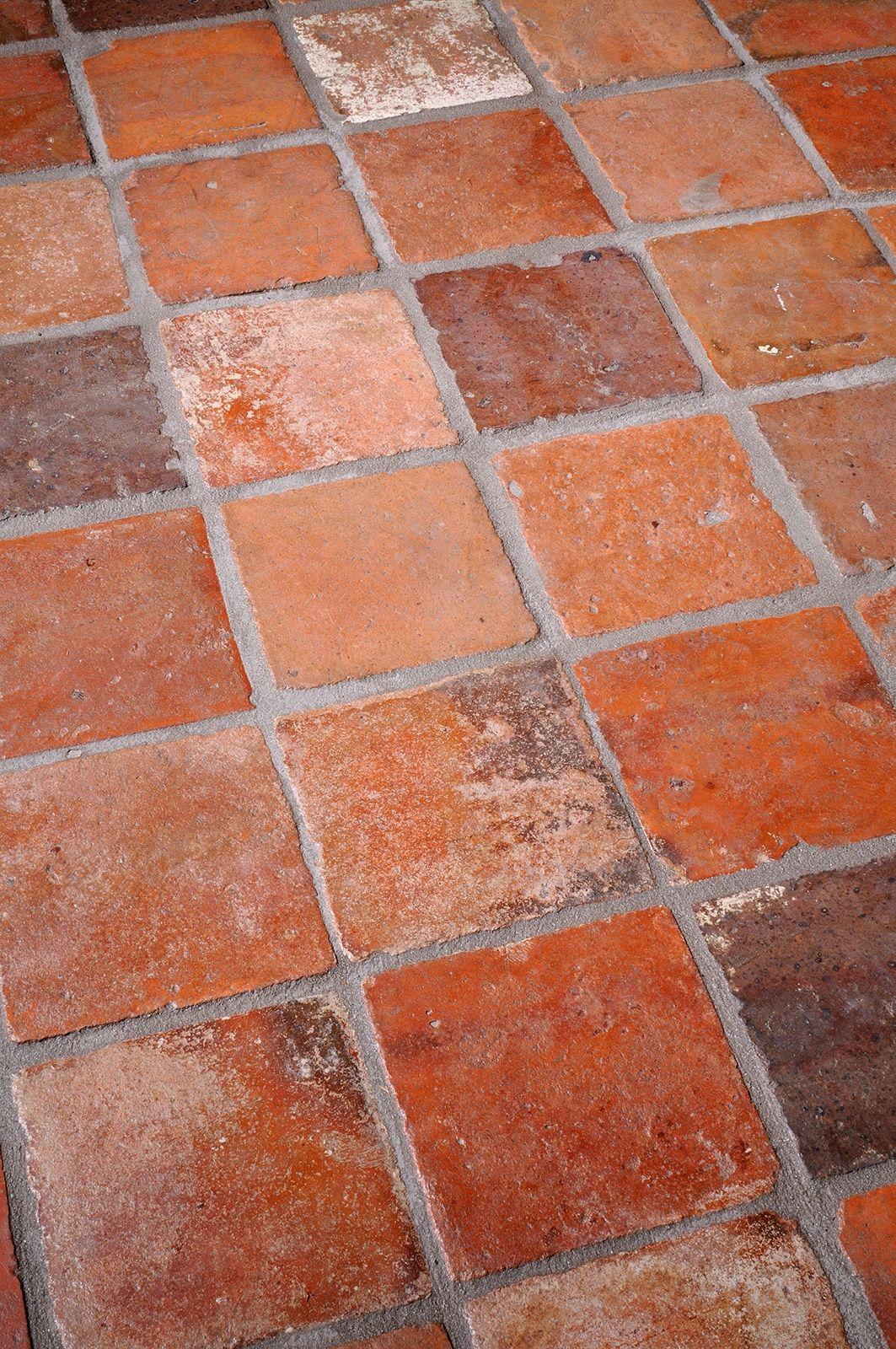 Vintage Terracotta Floor Tiles Terracotta Flooring Pinterest