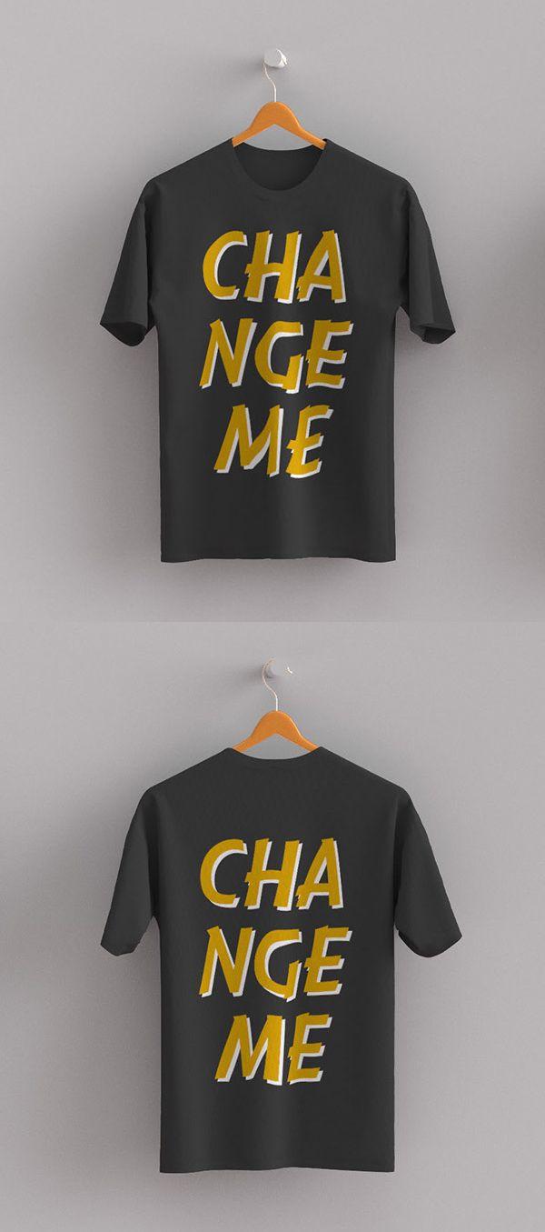 d907d4524309 Free T-shirt Front / Back Mockup PSD #tshirt #mockup #freebie  #mockuptemplates #freepsdfiles #freepsdmockups