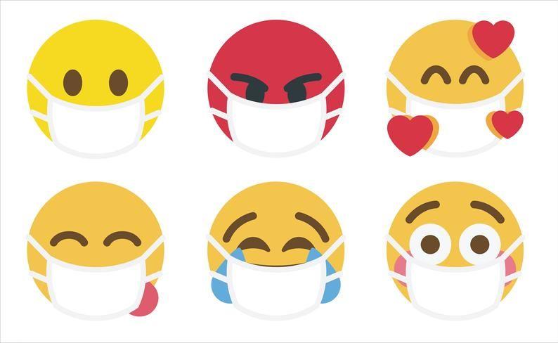 Face Mask Emoji Svg Bundle In Clipart Vector Png Pdf And Etsy In 2020 Face Masks For Kids Emoji Svg Face Mask