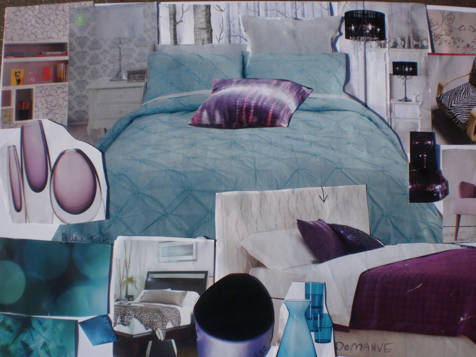1000 images about My room ideas on Pinterest. Purple And Turquoise Bedroom