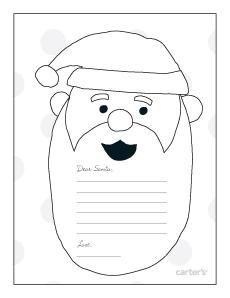 Free Colour In Letter To Santa Christmas Lettering Santa