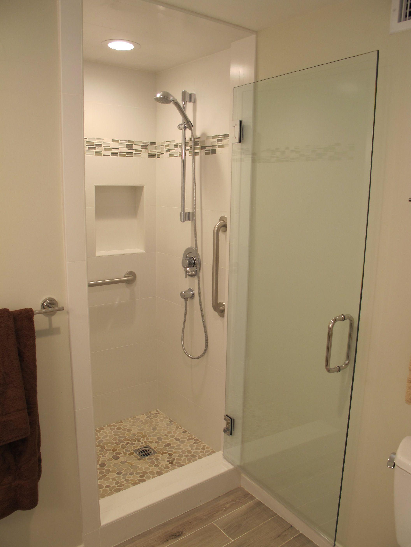 Shower Stall Mash Up Wall Tile North Sea Accent Maluka Tan