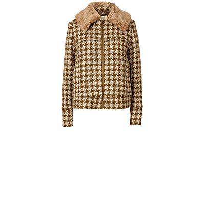 Orla Kiely   UK   Clothing   Outerwear   Houndstooth Wool Alice Jacket (16AWHTW852)   Olive