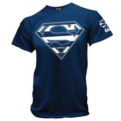 Geelong Cats Superman Youth Tee 35 Want Geelong Cats Geelong Football Club Geelong Football