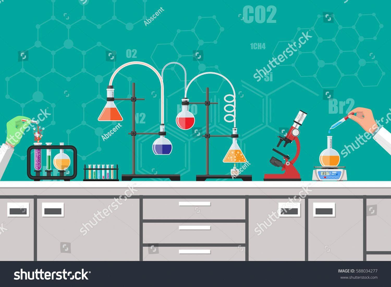 Science Experiment In Laboratory Lboratory Equipment