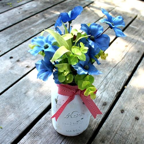 jar decoration ideas.htm red  white   blue summer star mason jar vase tutorial mason jar  mason jar vase tutorial
