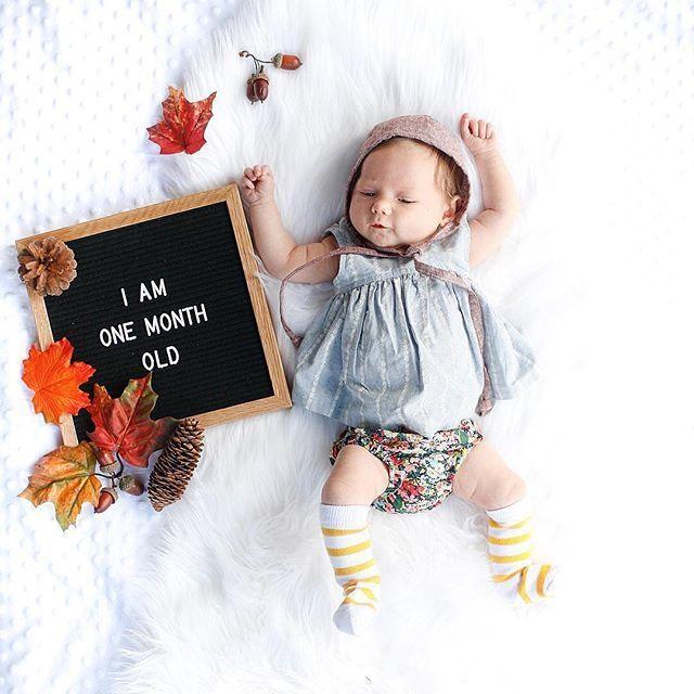 The Poet Oak Baby Milestone Photos One Month Baby Baby Milestones Pictures