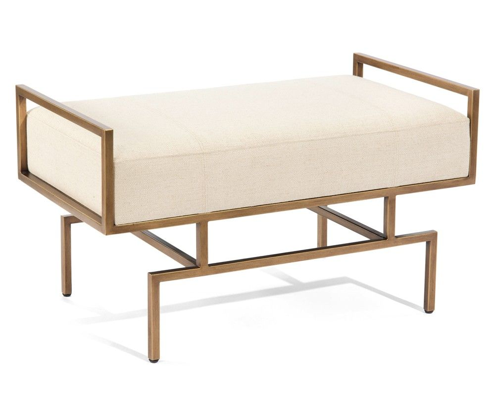 Wiggins Bench - Upholstered Exposed Wood - Upholstered Furniture - Our Products