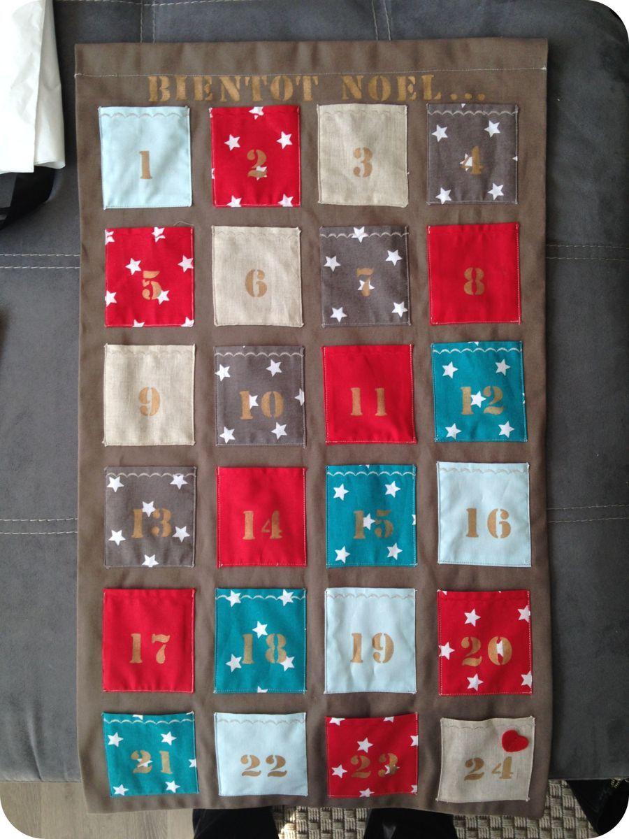 Calendrier De L Avent Feutrine.Les Decorations De Noel 2014 Calendrier De L Avent Tissu