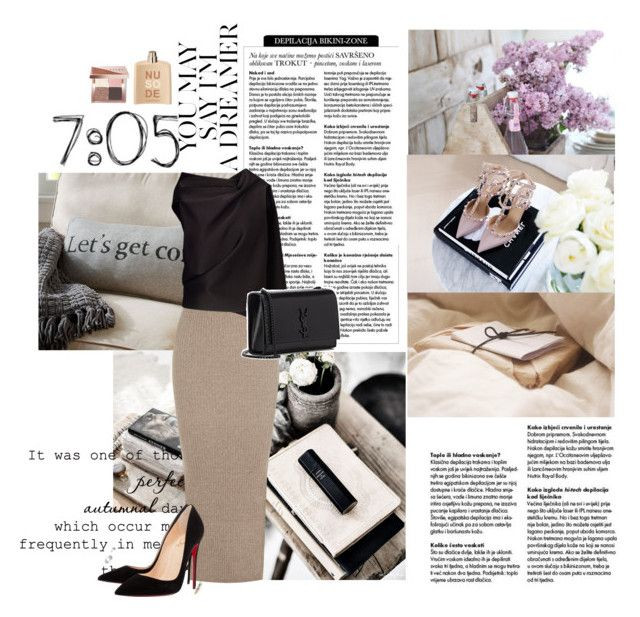 """"""": let's get cosy"""" by chrismay-468 on Polyvore featuring Nobis, Pottery Barn, Warehouse, Roland Mouret, Christian Louboutin, Yves Saint Laurent, Bobbi Brown Cosmetics and COSTUME NATIONAL"""