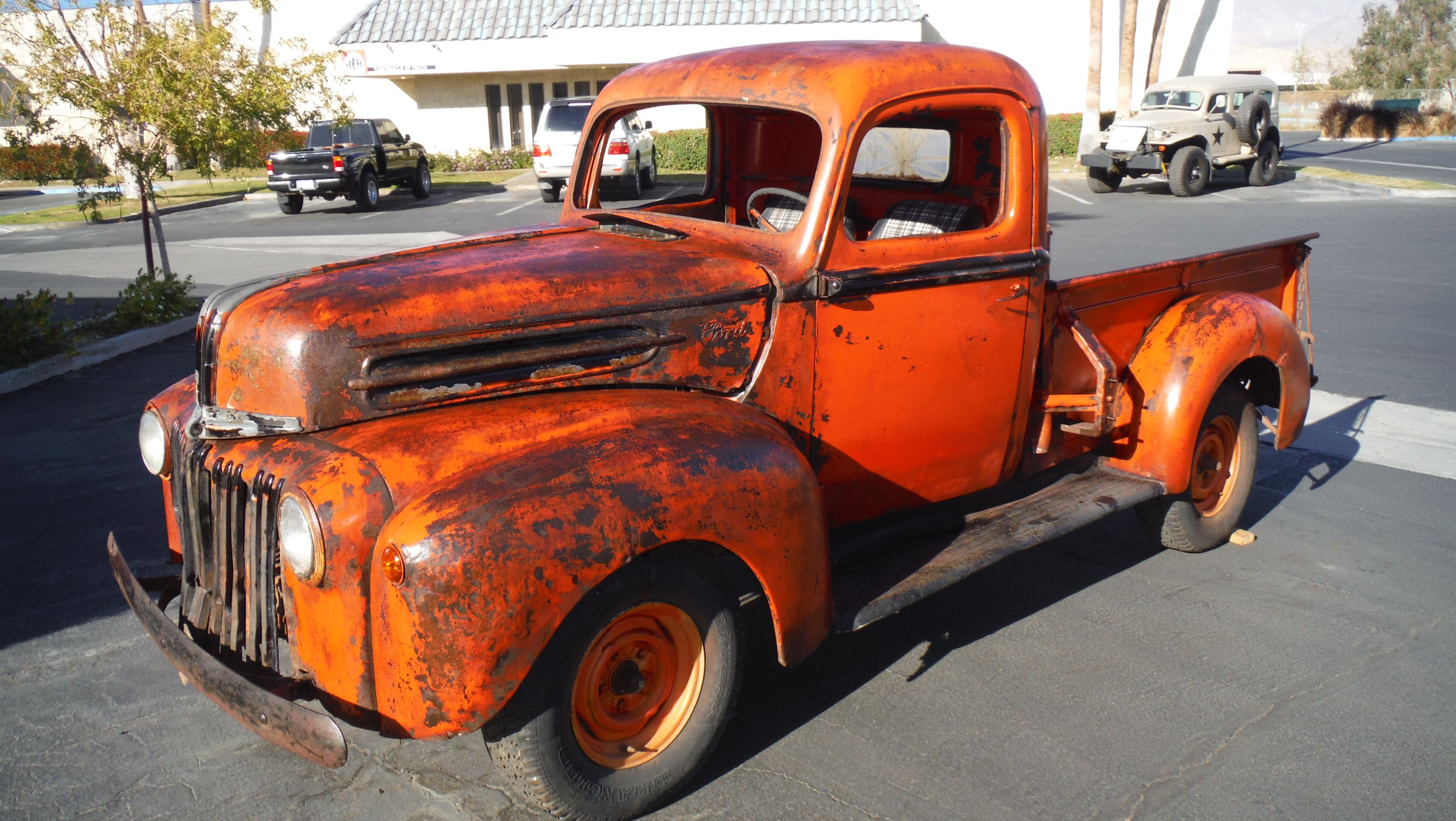 1946 Ford 1 2 Ton Pickup Rat Rod Later 6 Cyl Eng Not Running More Pics Available David 714 310 9934