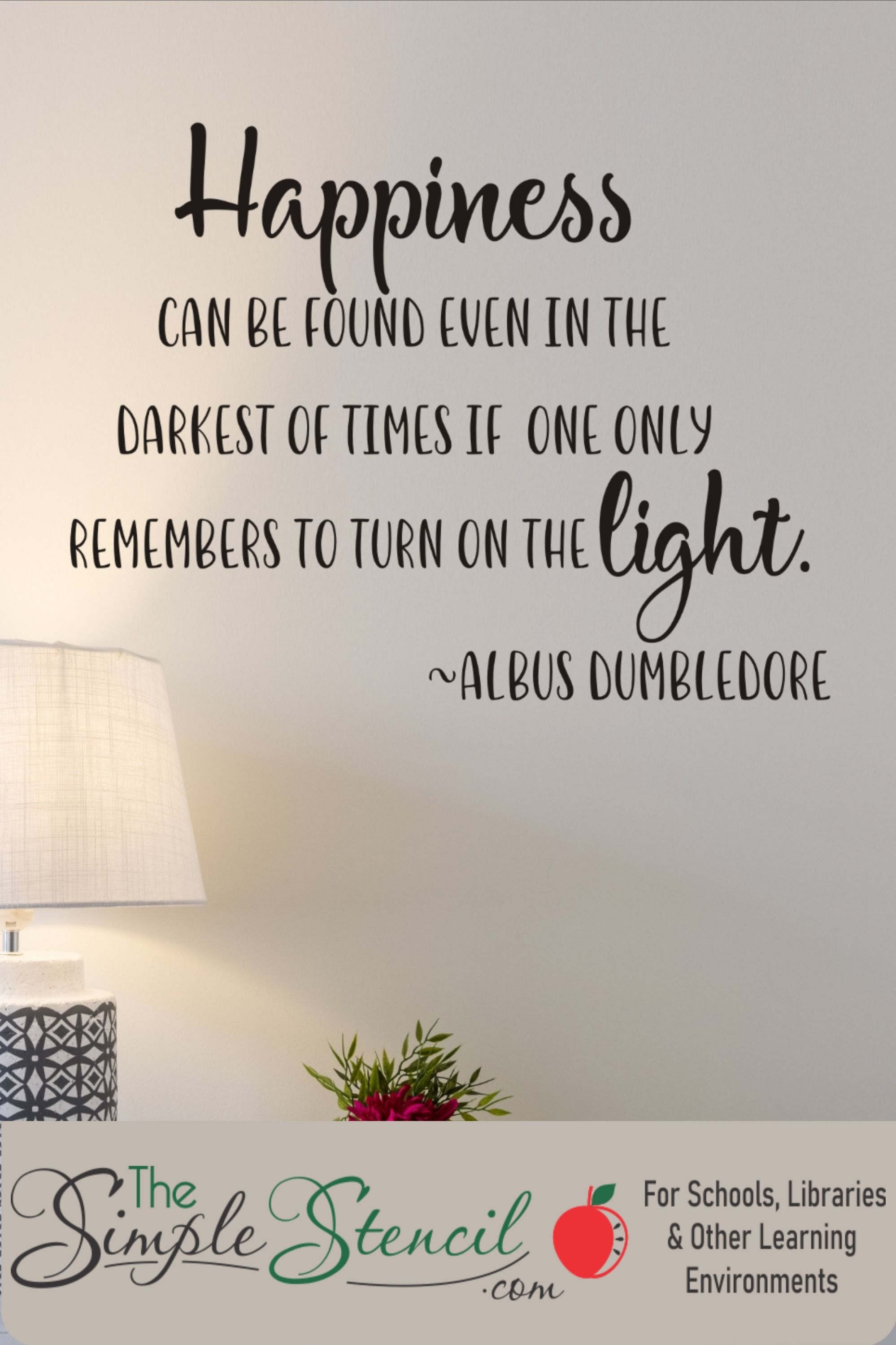 Differences Of Habit Albus Dumbledore Harry Potter Wall Art Quote Sticker Decal