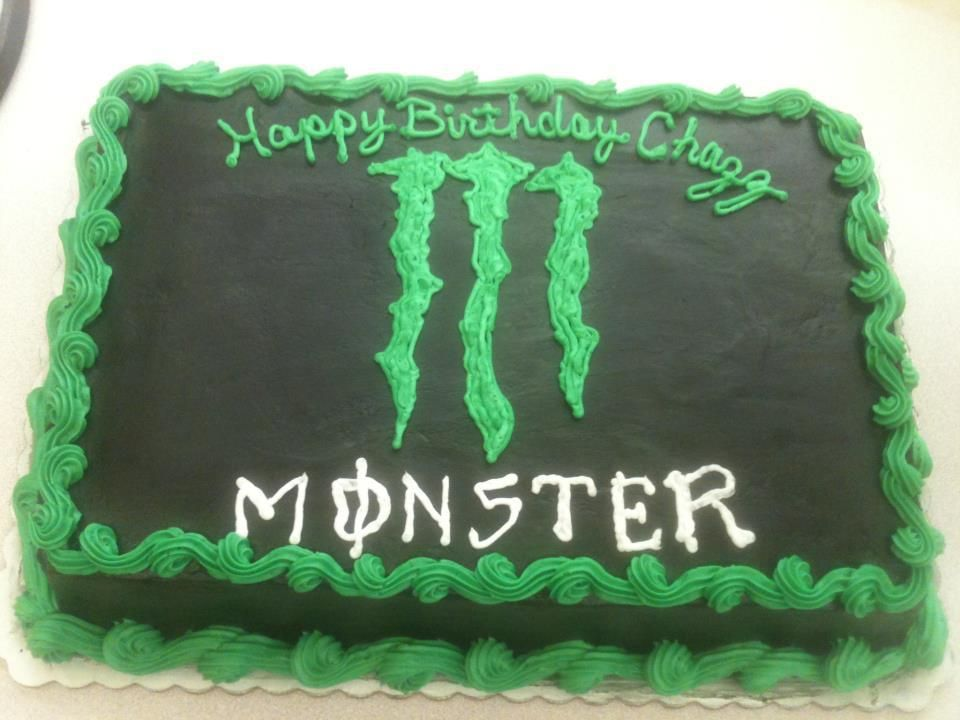 Monster Energy Drink Birthday Cake for Roberts bday :) I think I'm going to try this he will LOVE it