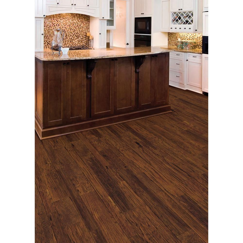 Home Legend Distressed Barrett Hickory 3 8 In Thick X 3 1 2 In X 6 1 2 In Wide X 47 1 4 In Engineered Hardwood Hardwood Floors Engineered Hardwood Flooring