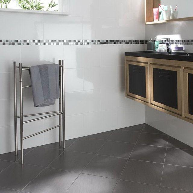 Carrelage sol jiraya gris 45 x 45 cm castorama appart maison kitchen tiles tiles et - Castorama salle de bain carrelage ...