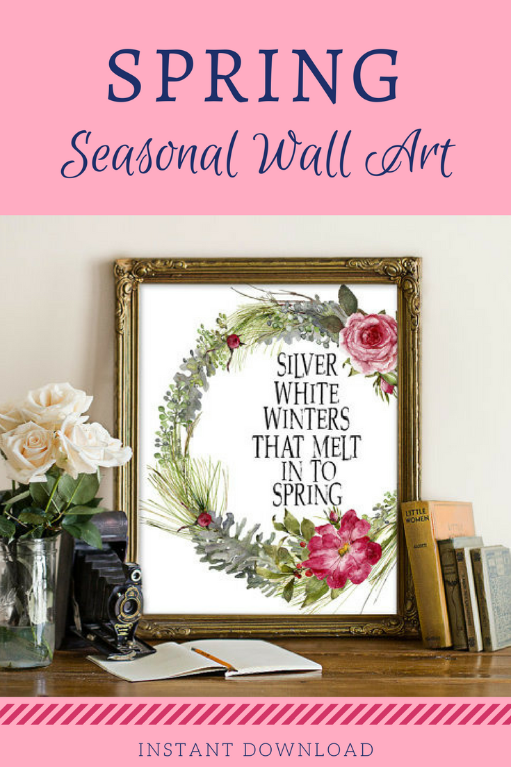 Superb Spring Printable, Winter Printable, Winter Decor, Winter Wall Art, Spring  Print,