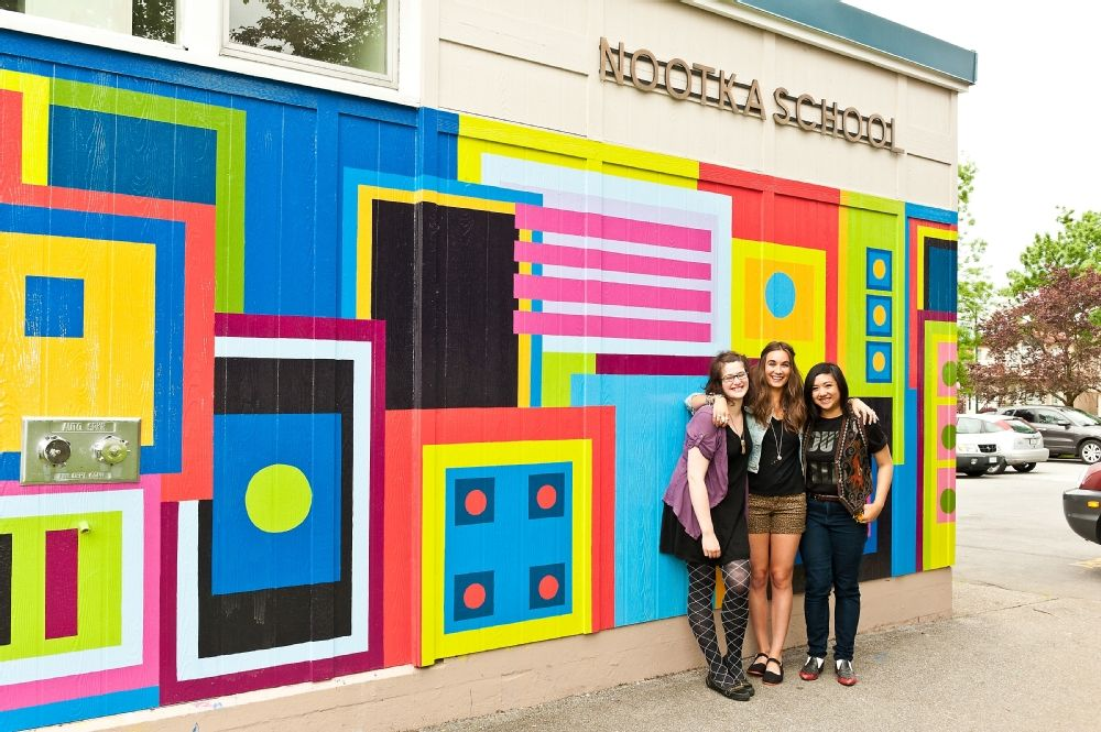 Elementary school murals painting fine arts collaborates for Mural school