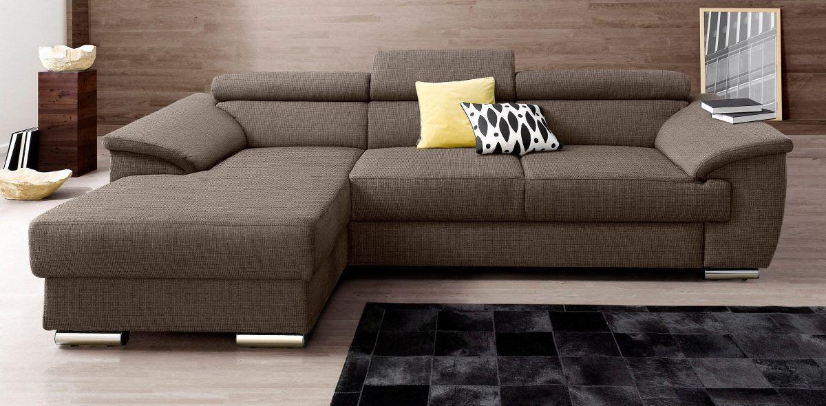Sitzecke braun, Recamiere links, FSC®-zertifiziert, PLACES OF STYLE - wohnzimmer sofa braun