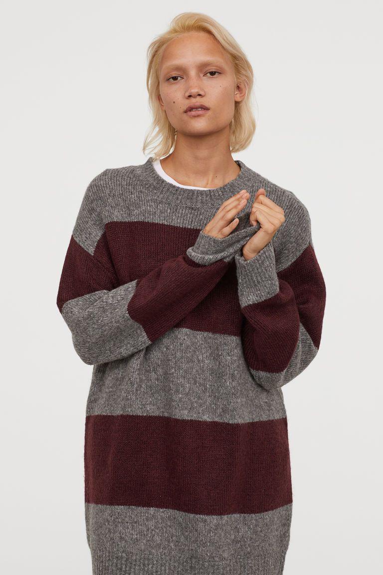 Lange Sweater Trui.Lange Trui H M Long Sweaters Burgundy Sweater En Long Jumpers