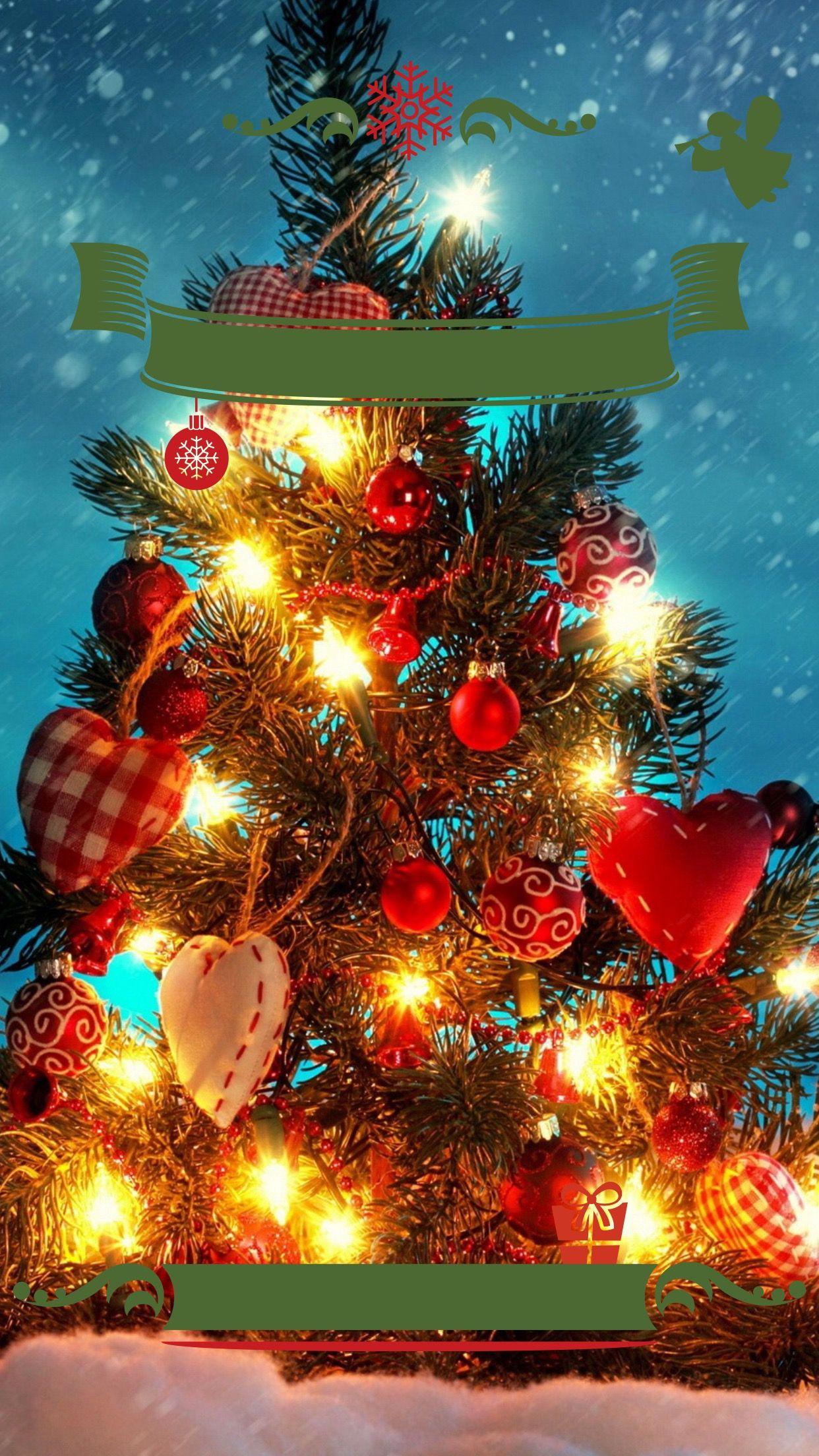TAP AND GET THE FREE APP! Lockscreens Art Creative Holiday Happy Christmas Presents Tree ...