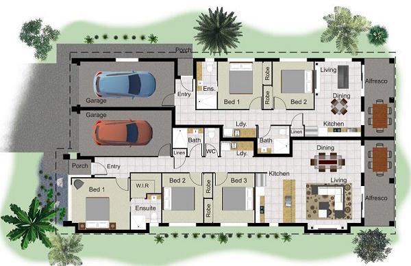 Dual house plans
