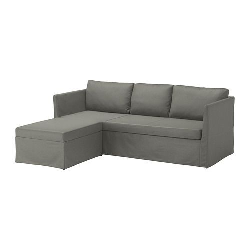 Bråthult Sleeper Sectional 3 Seat Borred Gray Green For