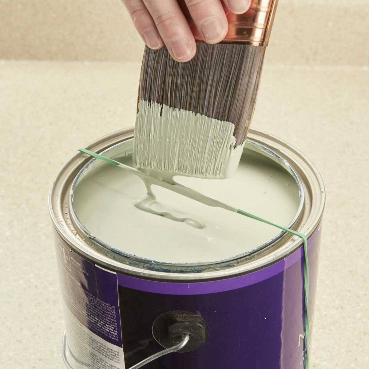 Rubber band paint can accessory handy tips pinterest painting