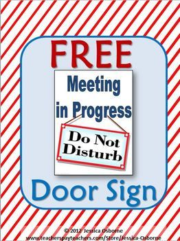 meeting door sign free my tpt store products classroom door