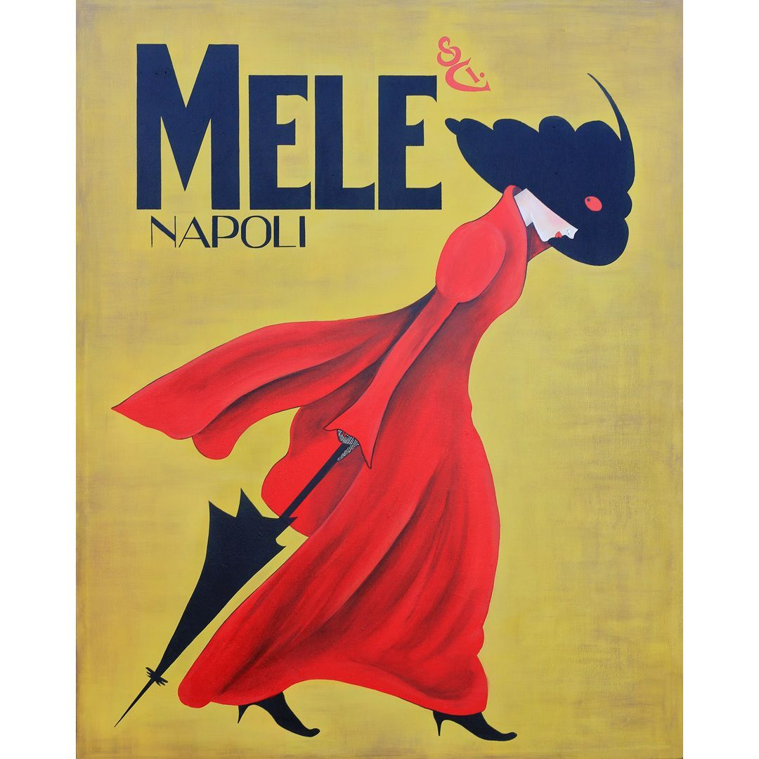 Art in Style Lady in the Red Coat Giclee on Canvas Wall Art ...