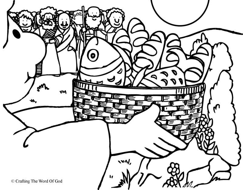 Feeding The Multitude Coloring Page Bible Crafts Bible