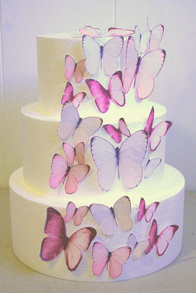 Edible Butterfly Cake Decorations Light Pink Edible Butterflies Set Of 24 Diy Cake Decor Edible Cake Decorations Pink Wedding Cake Butterfly Cake Decorations Edible Butterfly Edible Cake Decorations