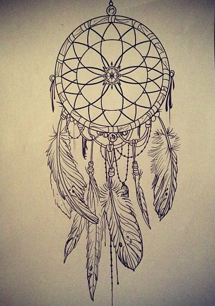 Voici Une Illustration à Reproduire Au Zendoodle Un Joli Capteur De Enchanting Pictures Of Dream Catchers To Draw