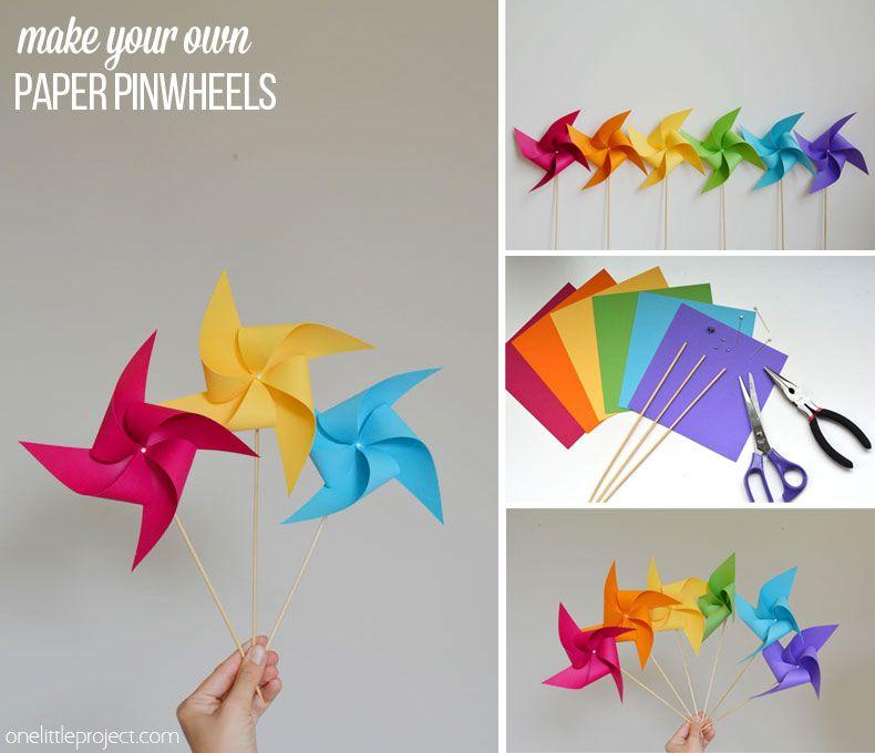 How to Make a Pinwheel | Cumple, Cumpleaños y Escuela de verano