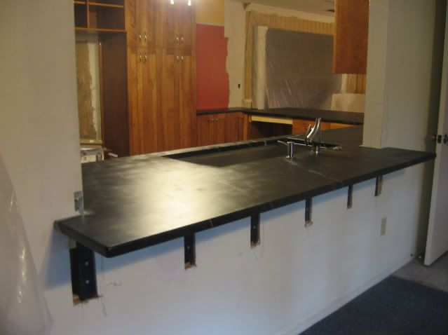 Counter Height Kitchen Pass Through With Overhang
