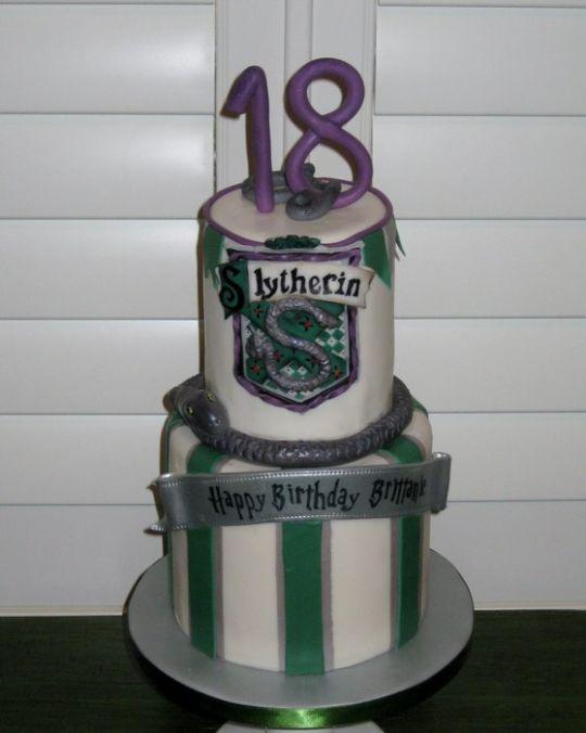 Slytherin Birthday Cake Cakesdecor Cake Harry Potter Birthday