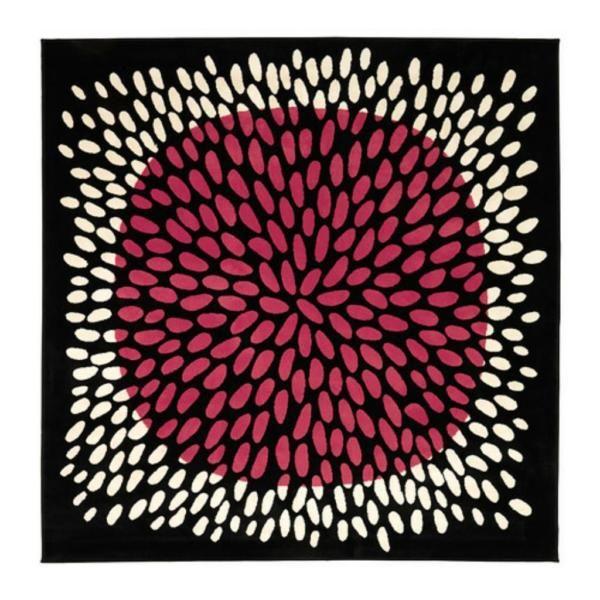 Ikea Teppich Tradklover Pink Schwarz Weiss 200 200 Tradklover In
