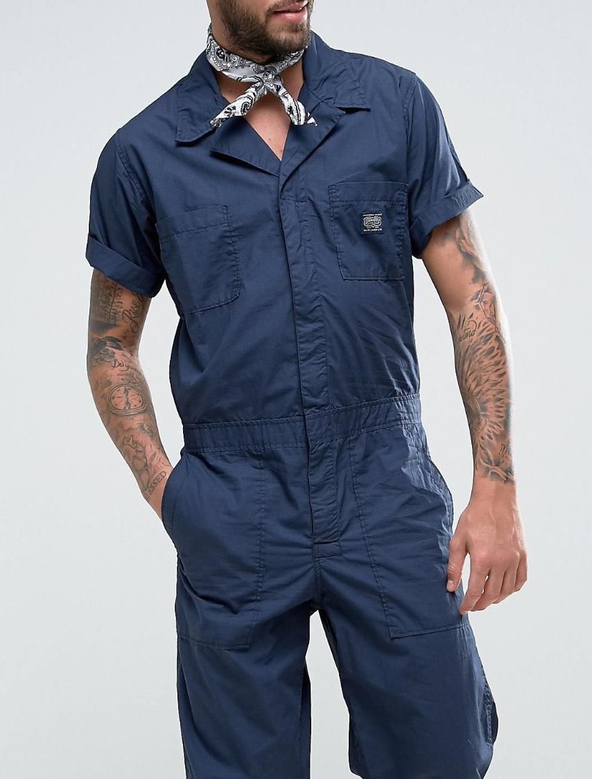 add4ecf0 Denim & Supply Ralph Lauren Worker Jumpsuit Short Sleeve in Navy ...